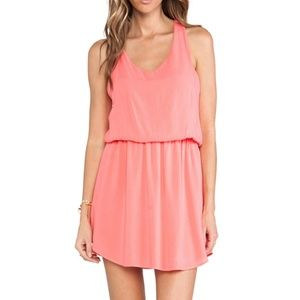 Splendid bright pink rayon mini dress XS